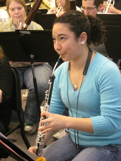 Sophomore Abby Chien during first tour rehearsal