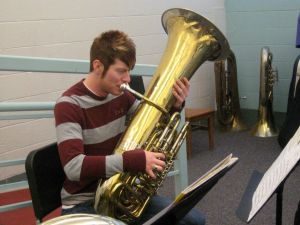 Freshman Michael Taylor during second rehearsal