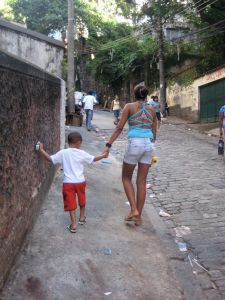 Walking up to a favela